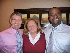 Barry MacDonald, Diane Wood, and Serge Edouard